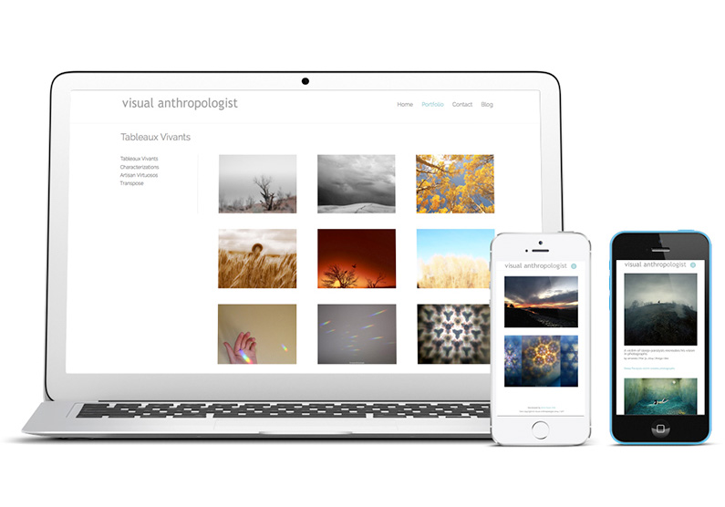 iMac and iPhone views, responsive web site, Web Design for photographer