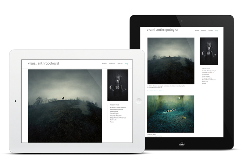 iPads, Blog View, Web Design for photographer