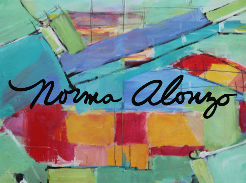 Graphic logo design for contemporary artist Norma Alonzo