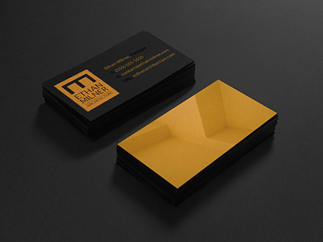 Business card design for Ethan Milner Architecture
