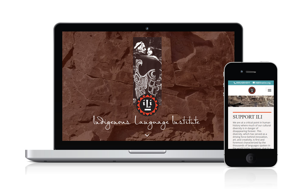 Indigenous Language Institute - Responsive Website by Acacia Carr