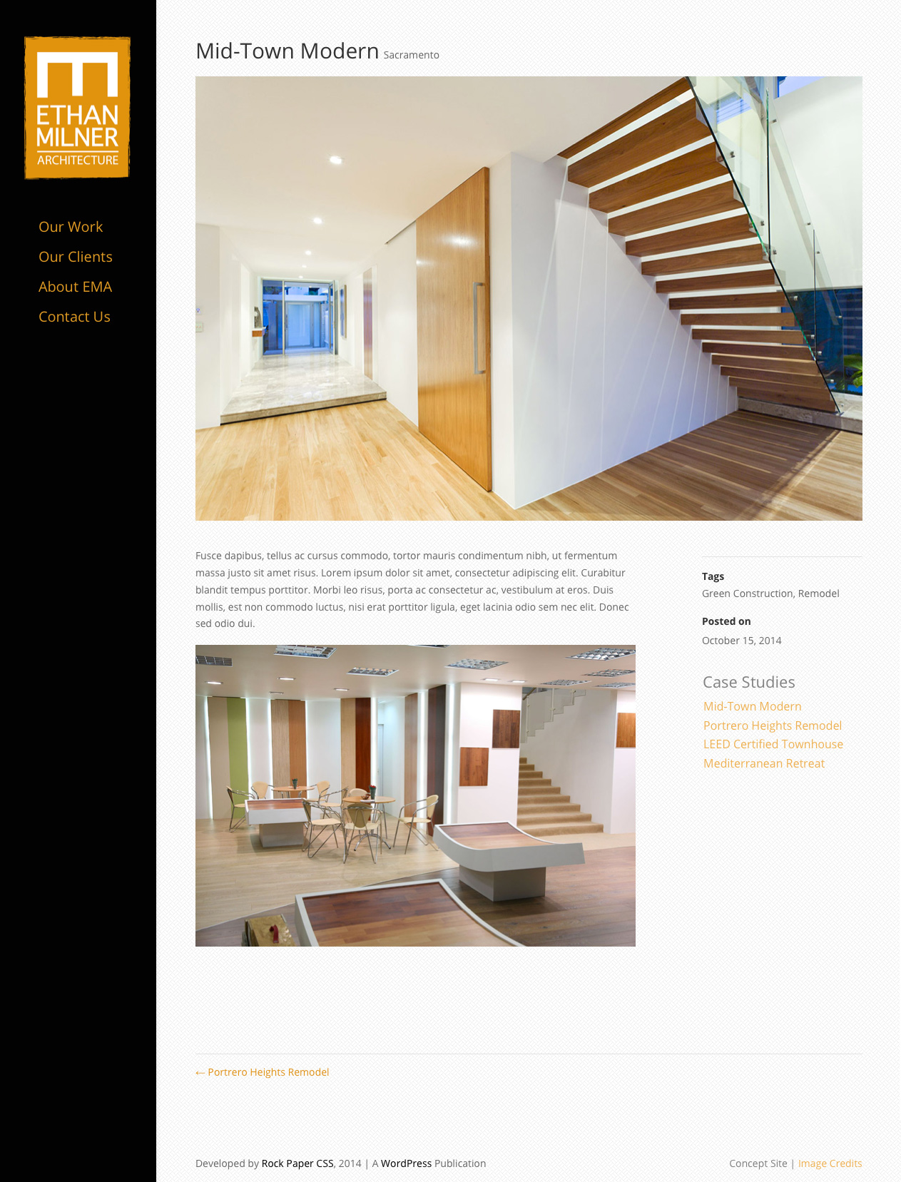 Screenshot of Web Site for Architect