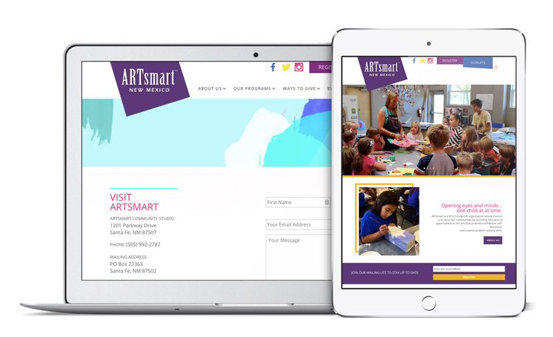 ARTsmart New Mexico - Responsive Web Site by Acacia Carr