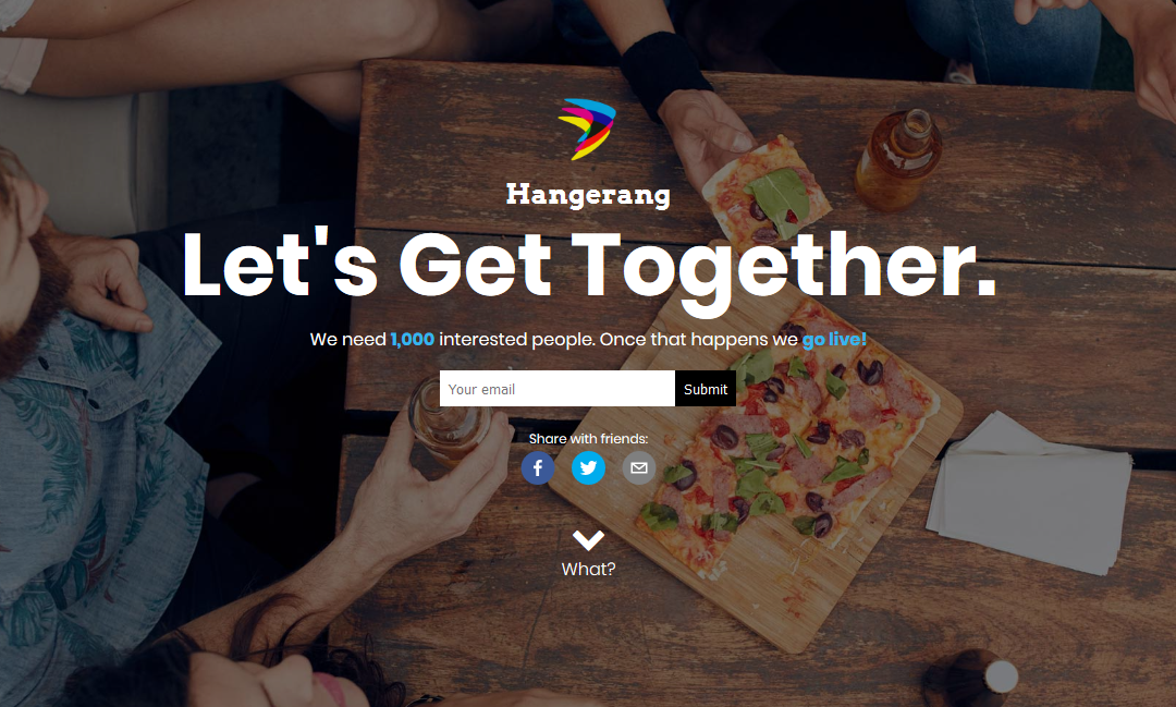 Meet Hangerang…A new web app for real life hangouts