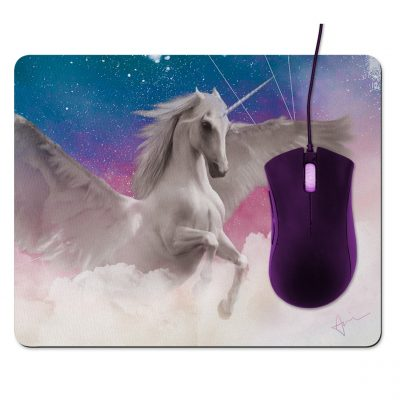 Unicorn Unicorn Mousepad - by Acacia Carr