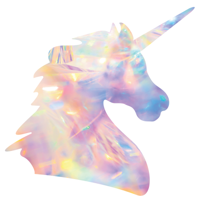 Holographic Unicorn Sticker - Die Cut - by Acacia Carr