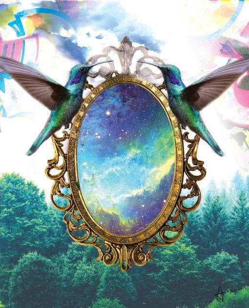 """Cosmic Mirror"" - Digital Art by Acacia Carr"