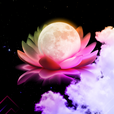 """The Moon in the Lotus"" - Artwork by Acacia Carr"