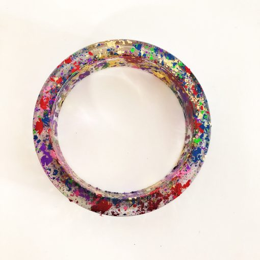 Spaced Out Bangle Style Bracelet - Wearable Art Handmade by Acacia Carr
