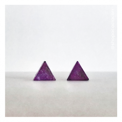 Kawaī Hōseki Triangle Earrings - Handmade by Acacia Carr