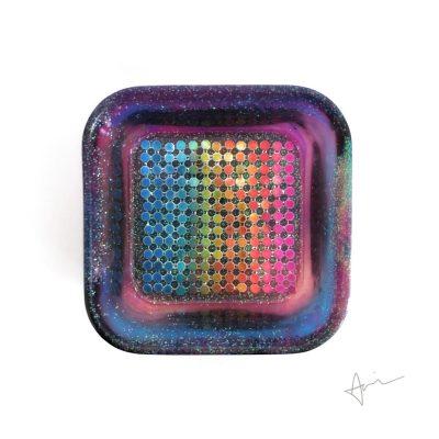 Rainbow Chainmail Trinket Dish - Handmade by Acacia Carr
