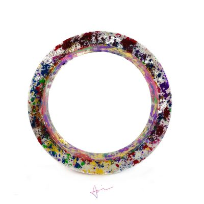 Spacedd Out EcoResin Bangle Bracelet - Handmade by Acacia Carr