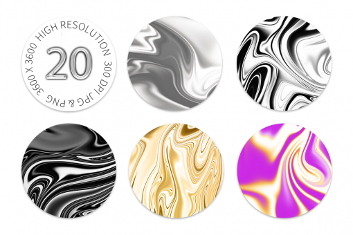 20 Marble Swirl Background Images - Digital Asset by Acacia Carr