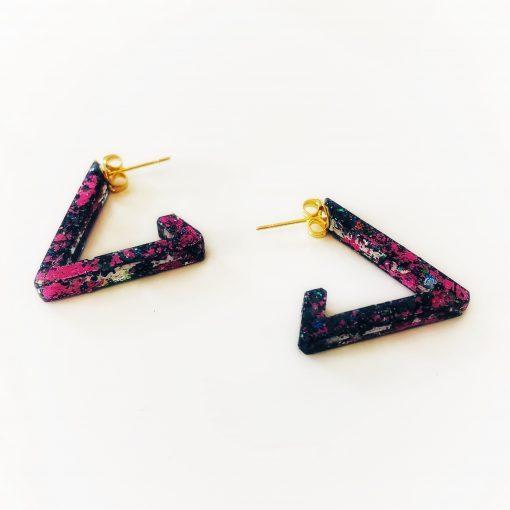 TriHoops Triangle Earrings - Handmade by Acacia Carr
