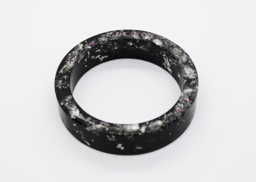 """""""Midnight Garden"""" - Small Handmade Black and Silver with Pink Foil and Mica Accents by Acacia Carr"""