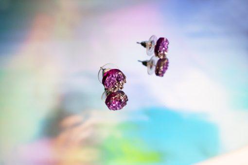 Handmade Ecoresin Druzy Earrings by Acacia Carr