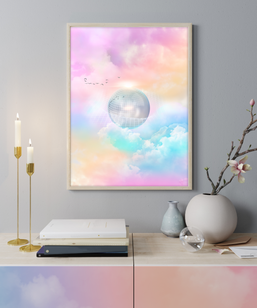 """""""TimeSpace"""" - Graphic Art Poster Print by Acacia Carr, Copyright 2021. All rights reserved."""