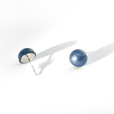 """Shimmer Dots"" - Handmade Polka Dot Earrings by Acacia Carr"