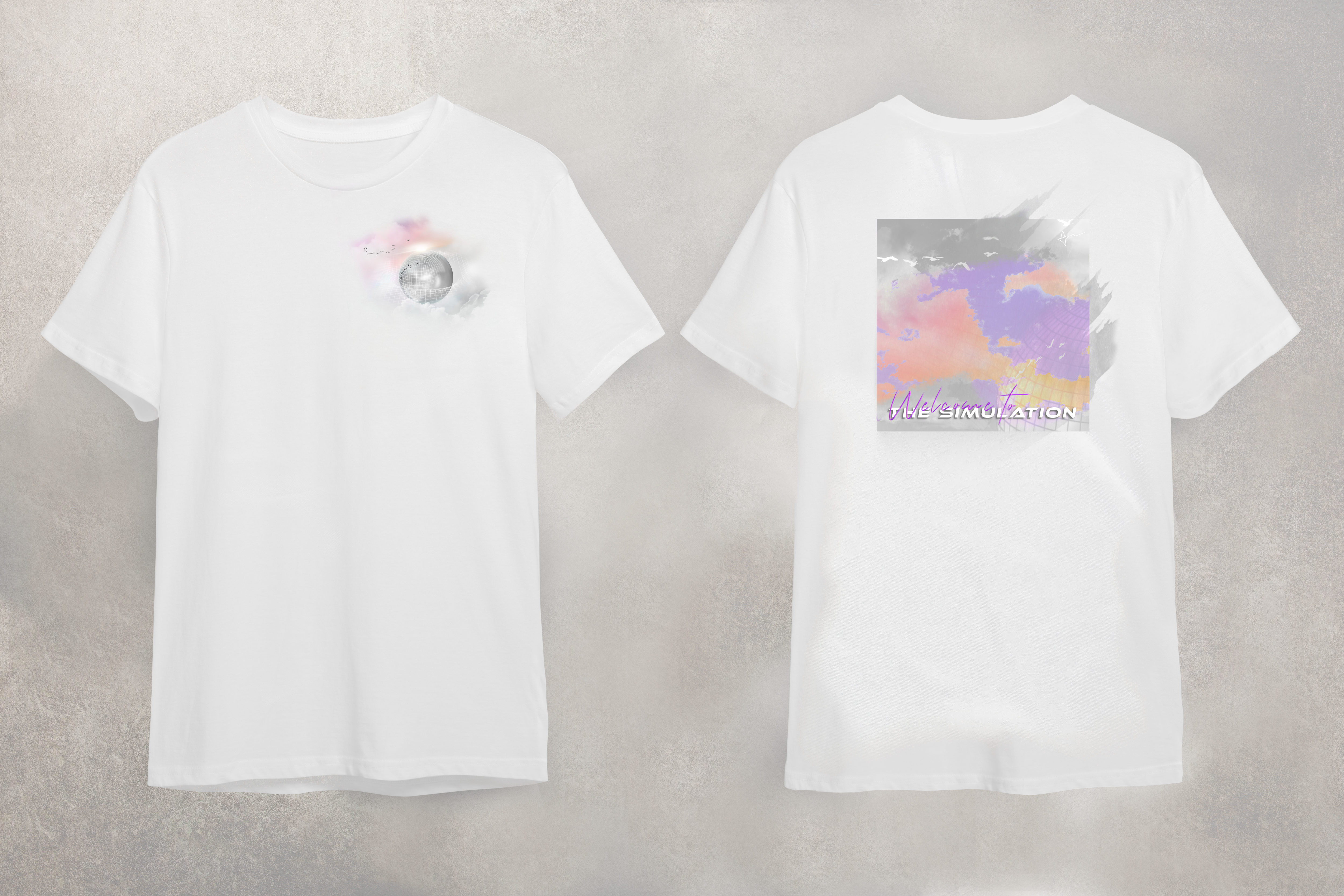 T-Shirt Design for The Simulation - An Electronic Trance and Trip Hop Album by Acacia Carr, 2021